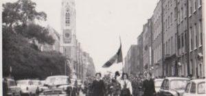 Joan Dargon, Greta Ryan (flag bearer) Maura Lydon Dublin 1962. Greta is a sister of Mick Ryan.
